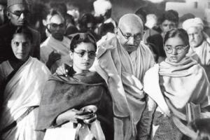 Ghandi and his girls.
