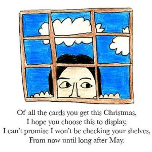 One of my cards from Christmas 2012